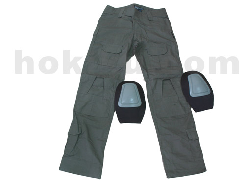 Pants Tactical with Pads - Green